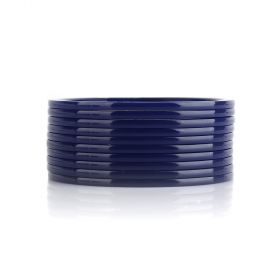 Thorns_gcc - Navy Blue Acrylic Bangles Set ( 10 Pieces ) - Size 2.8 Inch