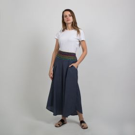 Boutique by 3AIN - Blue Denim Stylish Wide cut Pants - Free Size