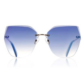 Eight Sunglasses - Wingy Class Cateye Blue Gradient & Gold Sunglasses