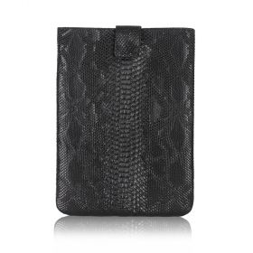 File Folder Embossed Snake - Black