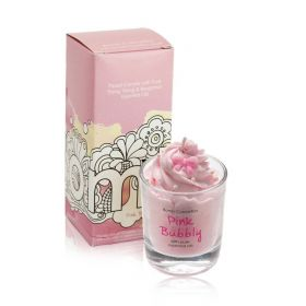 Pink Bubbley - Piped Candle