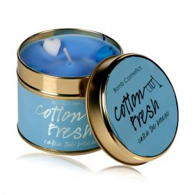 Cotton Fresh - tin candle