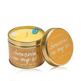 Sunshine in my Soul  - tin candle