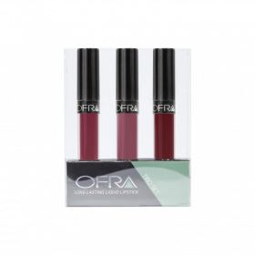 Ofra - Me, Myself & I  Long Lasting Liquid Lip Set - - Mina, Santa Ana, & Unzipped