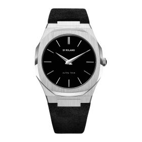 Ultra Thin Silver & Stromboli Black - Unisex Watch