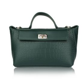 Crocodile Hand Bag - Green
