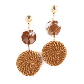 Beige Bamboo Earrings