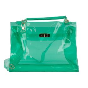 Dalamara - Satchel Transparent Messenger  Green Cross Body Bag