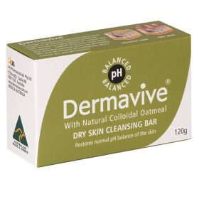 Dermavive Dry Skin Cleansing Bar Soab - 120g