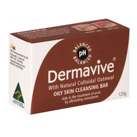 Dermavive Oily Skin Cleansing Bar Soap - 120g