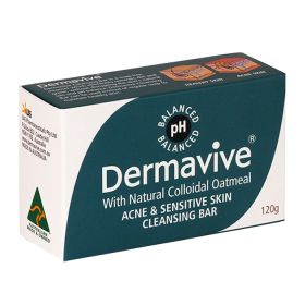 Dermavive Acne & Sensitive Skin Cleansing Bar Soap - 120g
