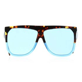 Eight Sunglasses- Tiger Trim Square Light Blue & Havana Sunglasses