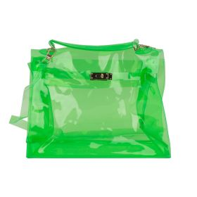 Dalamara - Satchel Transparent Messenger  Light Green Cross Body Bag
