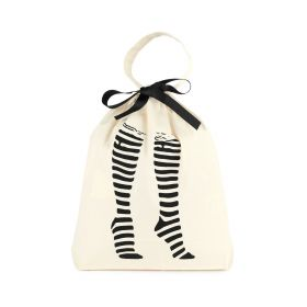 Large Organizer Tall Socks Bag - Black/White
