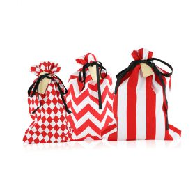 Graphic Gift Bags - Set of 3 - Red/ White