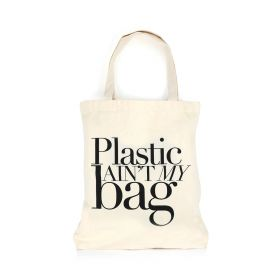 Plastic Aint My Bag - Tote - Black/White