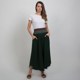Boutique by 3AIN - Dark Green Stylish Wide cut Pants - Free Size