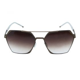 Koot hexa Bronze and Brown Sunglasses