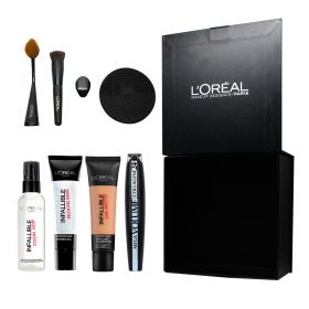 Loreal Makeup Collection + Free Gift Loreal Makeup Brushes Designer Box