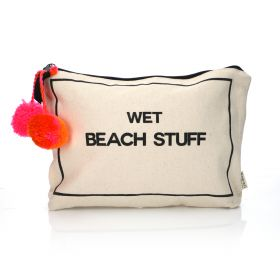 Wet Beach Stuff Case - Black/White