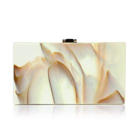 Marble Clutch - Beige