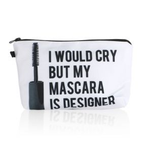 Mascara Makeup Bag - White