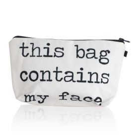 My Face Makeup Bag - White