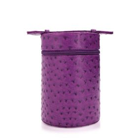 My Sac - Cylinder Bag - Leather Purple