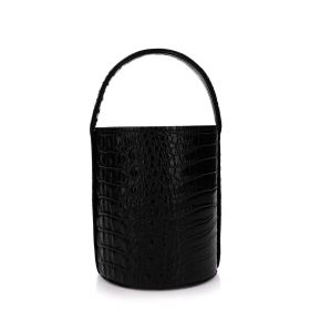 My Sac - Cylinder Bag - Leather Black