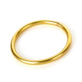 Baan - Classic Bangle Yellow gold Large - 6.5cm in diameter