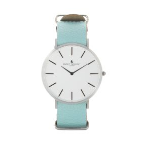 Master Watch With Mint Genuine Leather Strap