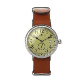 Officer Watch With Tan Genuine Leather Strap