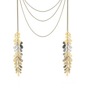 Leaf Necklace - Gold & Silver