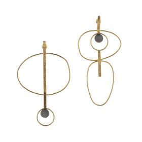 Guitar Earings - Gold