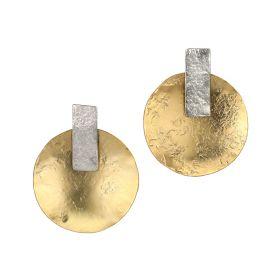 Round Earings - Gold & Silver