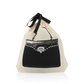 Large Stud Handbag - Black & White