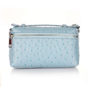 Ostrich Belt Bag - Light Blue