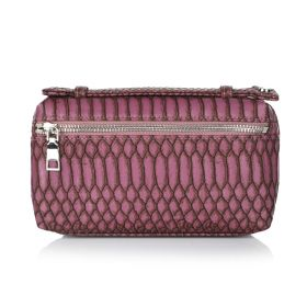 Python Clutch Bag - Dark Purple