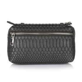Python Clutch Bag - Dark Grey