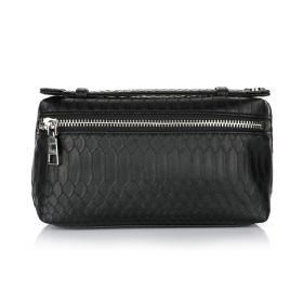 Python Clutch Bag - Black