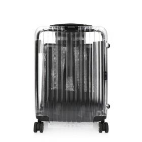Transparent Small Trolley Bag - Black