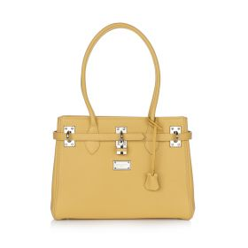 Aisha Satchel Handbag - Yellow