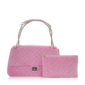 Diamond Flap Bag - Light Pink