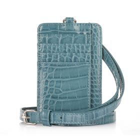 Dual Card Holder With Straps - Blue