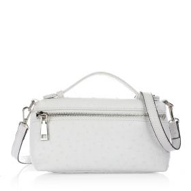 Just Croco Clutch Bag - White