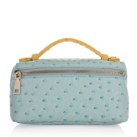 Vibrant Clutch Bag - Light Blue & Yellow