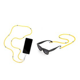 The Eye Sunglasses & Mobile Straps Set - Yellow - 2 pcs