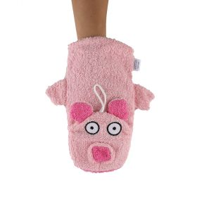 Isabelle Laurier Animal Farm Bath Mitt Piggy