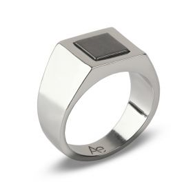 Square Signet Ring - Silver