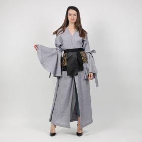 Kaftan with belt - Grey